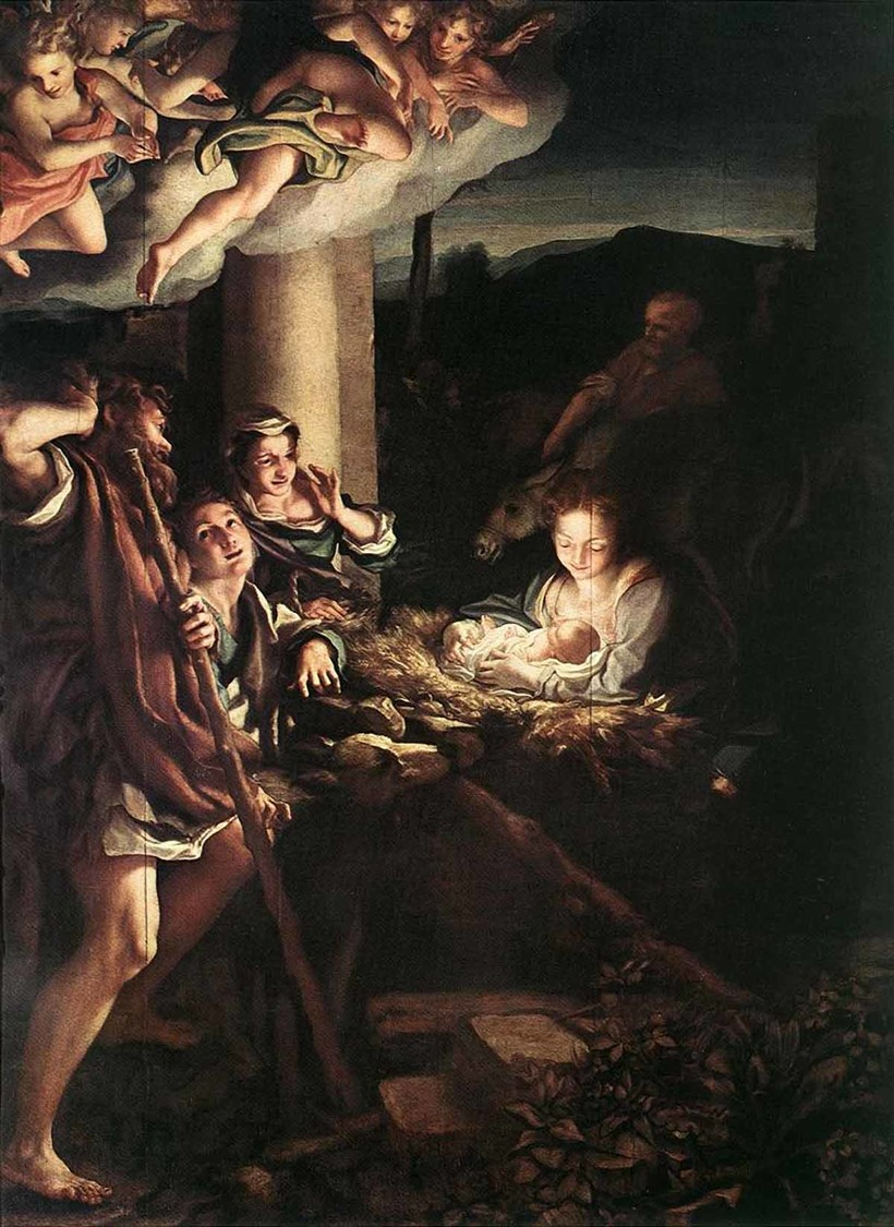 «Святая ночь (Рождество)», Антонио Корреджо