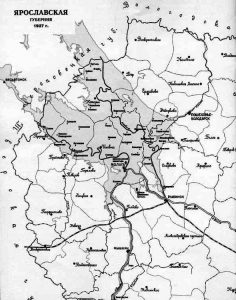 Карта Ярославской губернии в 1927 г.