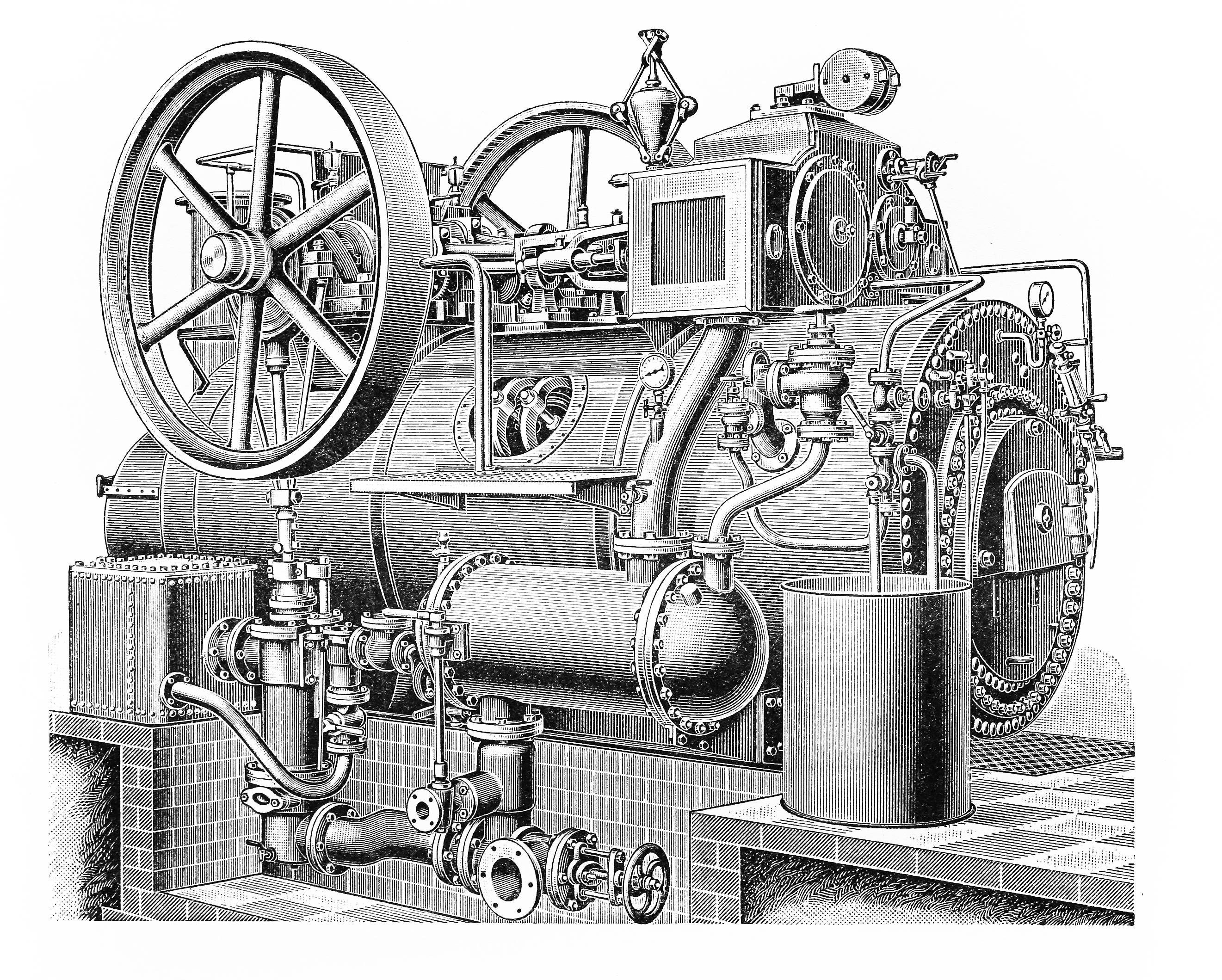 Промышленная паровая машина