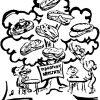 В трудах И. В. Мичурина упоминаются деревья с «бутербродами»